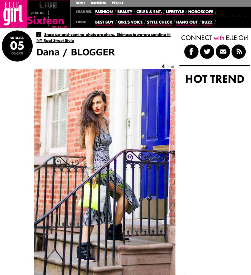 Dana Suchow Do The Hotpants Elle Japan Blogger Press