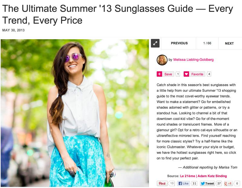 Do The Hotpants Dana Suchow Press Sunglasses