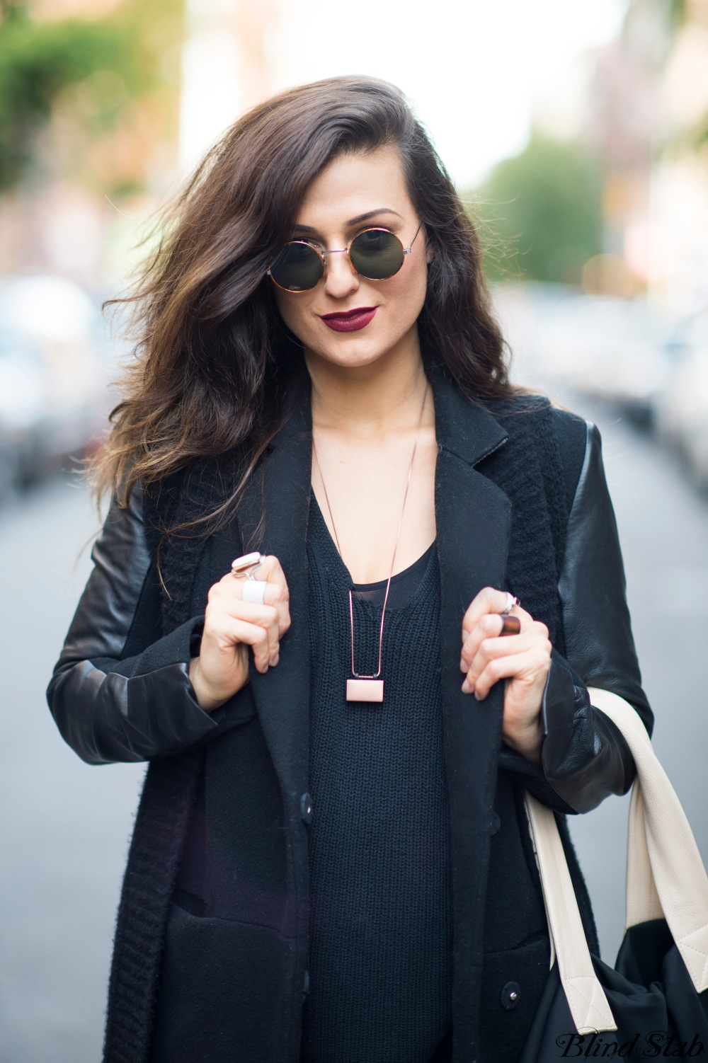 Black-Leather-Sleeve-Jacket-Coat