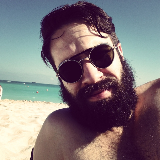 Blind Stab Adam Katz Sinding Beard Beach Miami Instagram