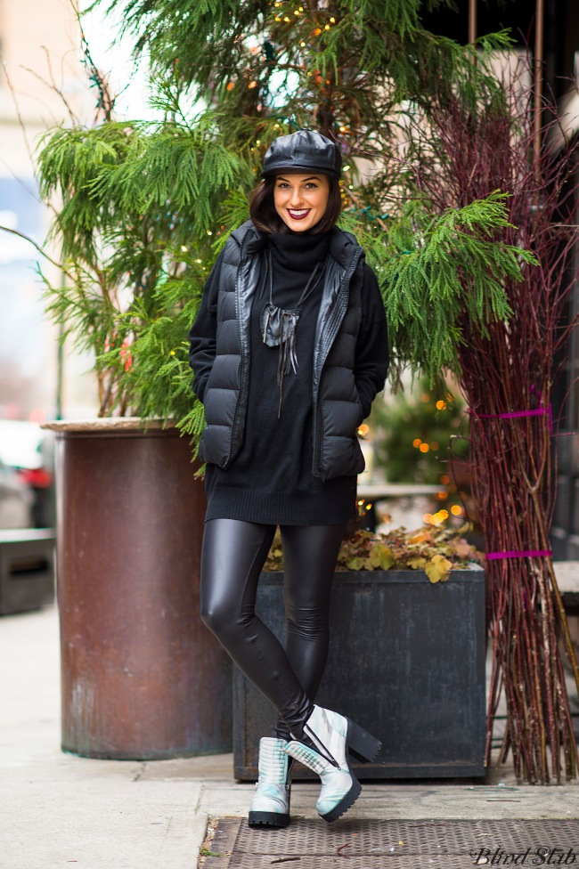 Leather-Hat-Vest-Black-Streetstyle-NYC