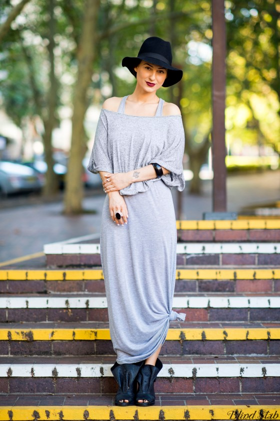 Gray-Dress-Street-Style-Streetstyle-Maxi-Skirt