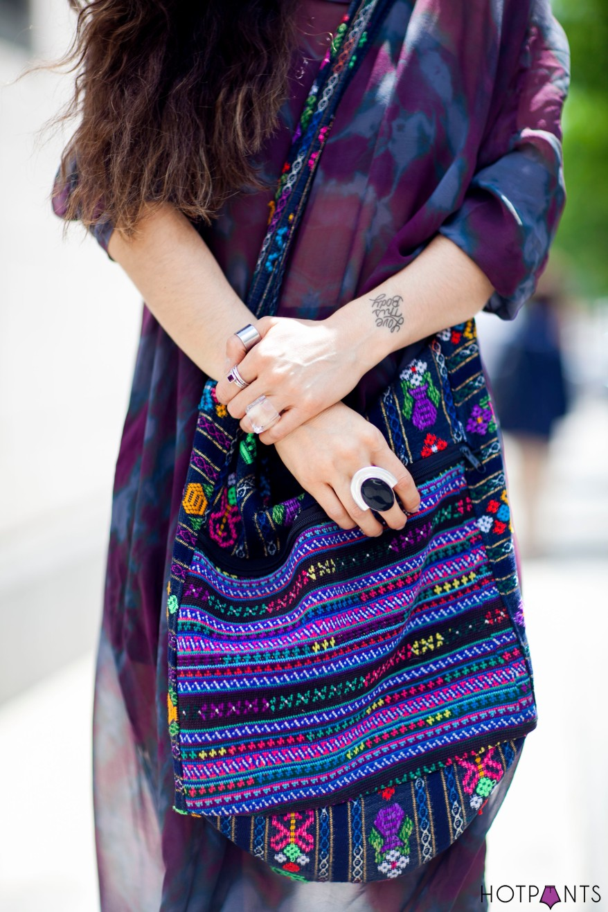 Ombre Hair Mexican Purse See Through Sheer Dress Purple Lips