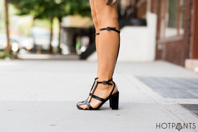 Zana Bayne Leather Harness Alexander Wang Gladiators NYC Summer Streetstyle