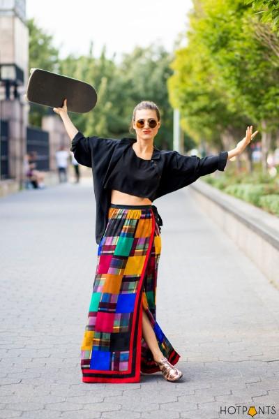 Funny Fashion Girl Skating Miista Holographic Sandals