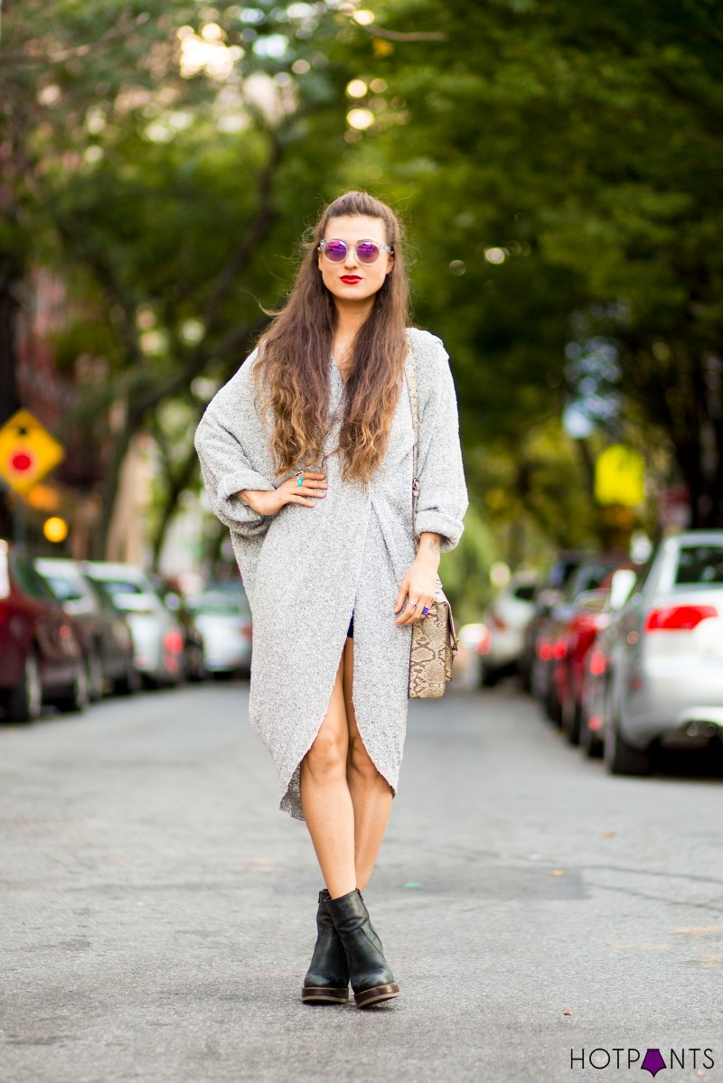 Long Brown Hair Blogger Fashion Streetstyle Legs NYC Fall 2013