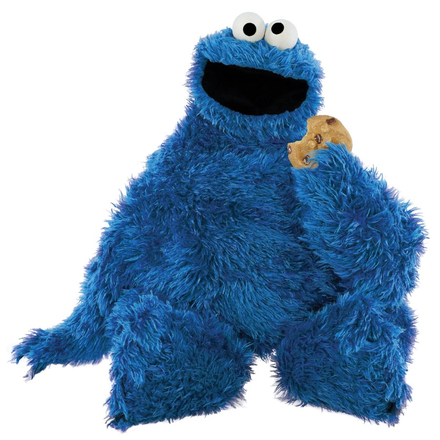 Do The Hotpants Dana Suchow Cookie Monster Blue Furry
