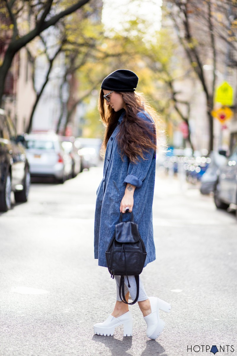Do The Hotpants Dana Suchow Beanie NYC Winter Street Style 5