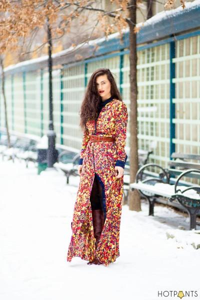 Maxi Color Colorful Long Dress Margiela Plastic Wedge Boots