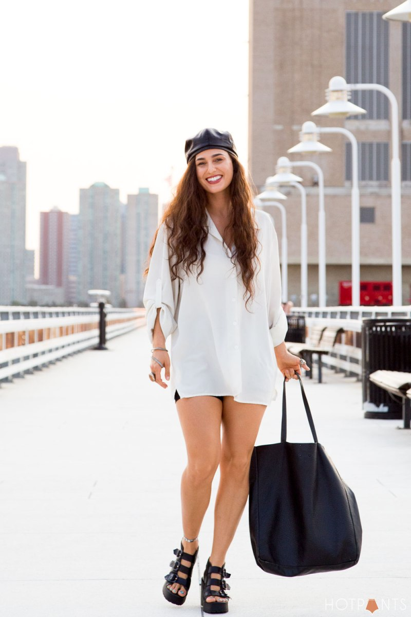 Do The Hotpants Dana Suchow Leather Backwards Baseball Hat Miista Strappy Platform Heels 7