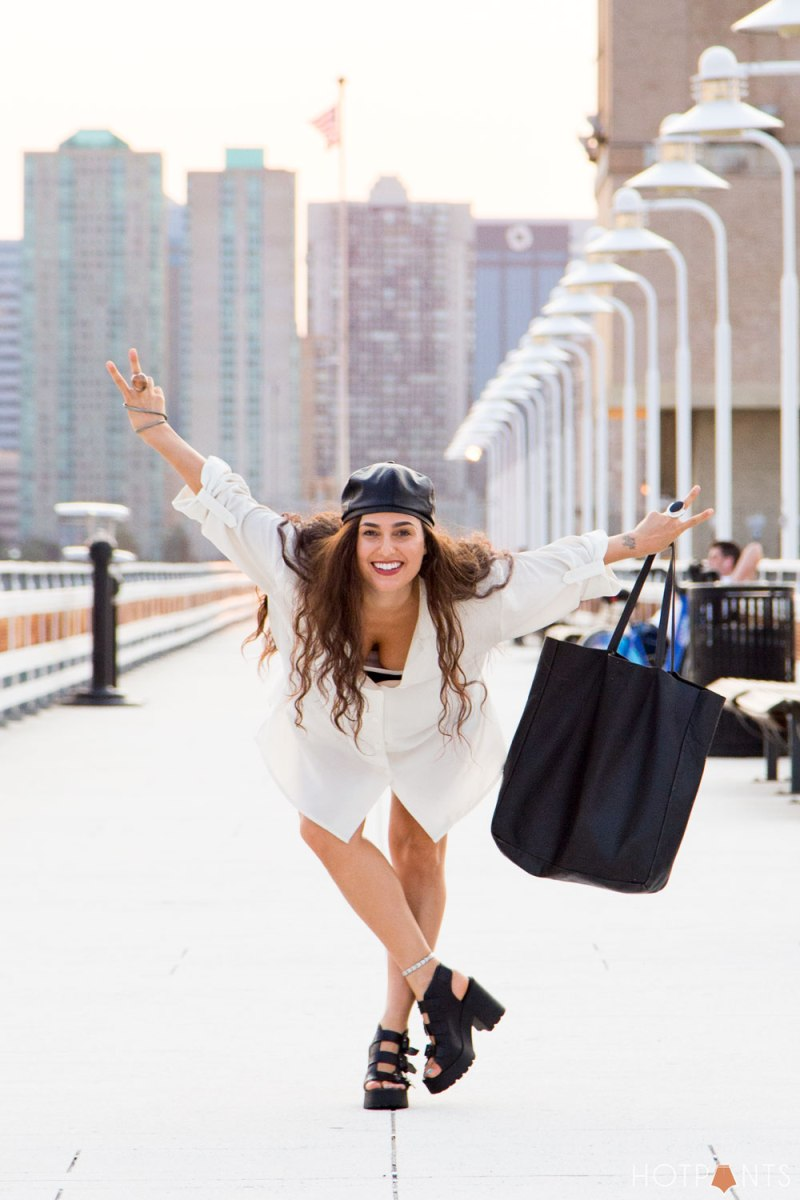 Do The Hotpants Dana Suchow Leather Backwards Baseball Hat Miista Strappy Platform Heels 8